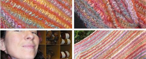Une écharpe pleine de couleurs!