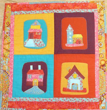 les petites maisons mod le de patchwork gratuit au fil