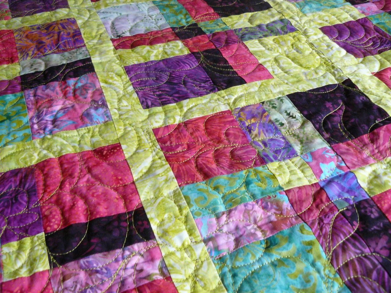 Quilting machine au fil d 39 emma id es patchwork et - Tuto patchwork gratuit ...