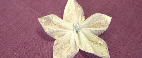 Challenge de Noël #16 : Les fleurs Kanzashi